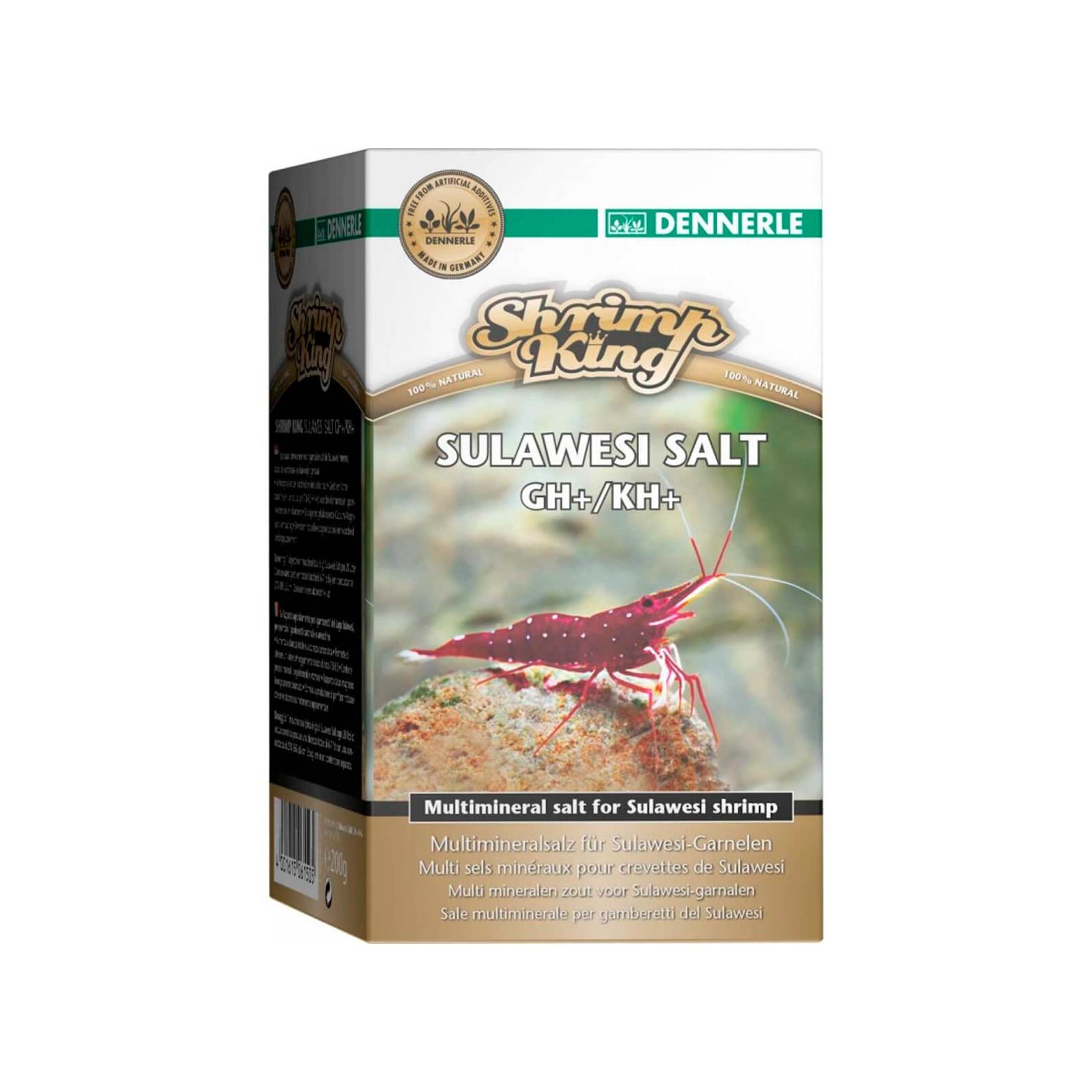 Dennerle Shrimp King Sulawesi Salt sale per Gh e Kh adatto a cardine in acquario