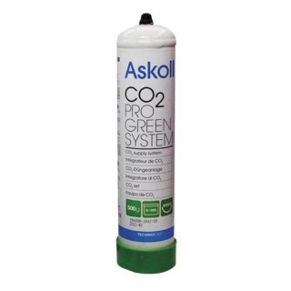 Askoll Bombola CO2 Anidride Carbonica 500 g usa e getta per acquari