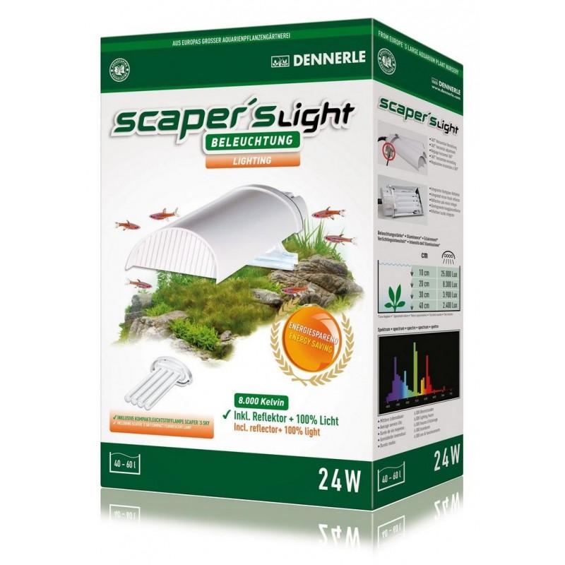 Dennerle 5763 Scaper's Light 24W plafoniera PL 8000°K per Nano Acquari da 40 a 60 litri
