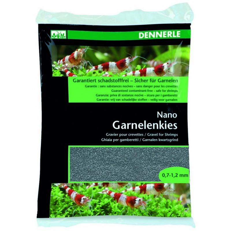 Dennerle 5857 Nano Garnelemkies Arkansas Grigia Ghiaia per gamberetti d'acquario 2 kg