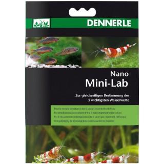 Dennerle 5869 Mini Lab Test a Strisce per la Misurazione dei 5 Valori più Importanti Indicato per Piccoli Acquari
