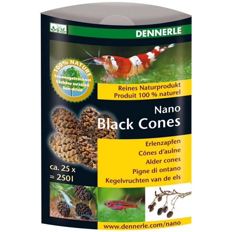 Dennerle 5911 Nano Black Cones Pigne di Ontano 25px per acquari