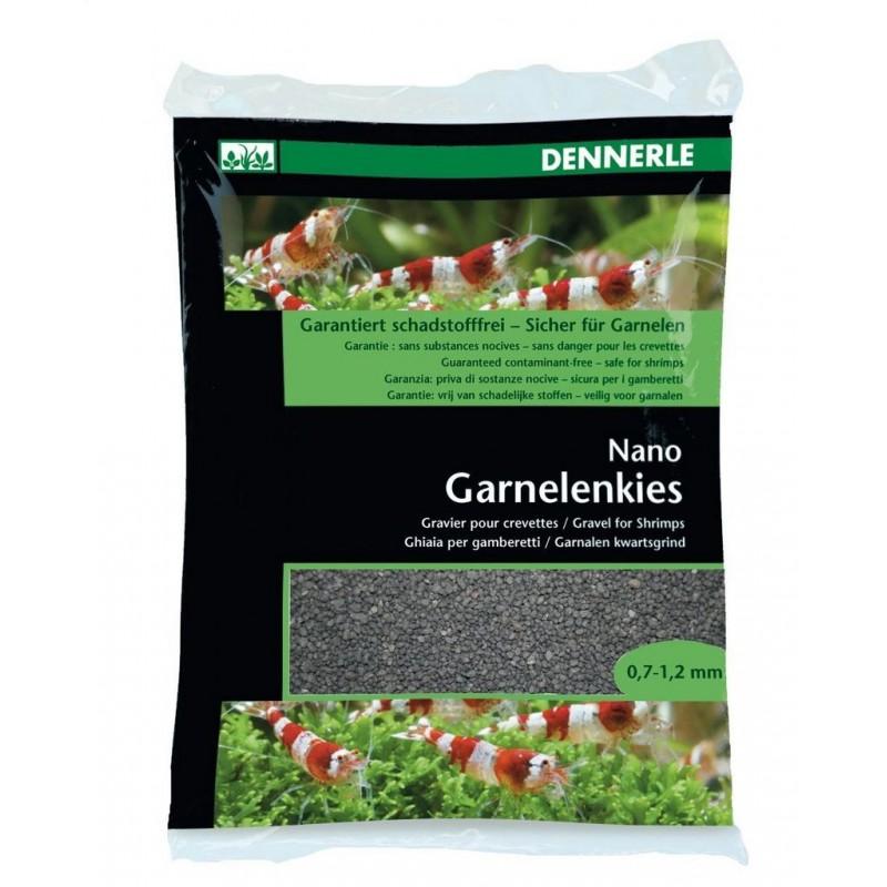 Dennerle 5913 Nano Garnelemkies Sulawesi Nero Ghiaia per gamberetti d'acquario 2 kg