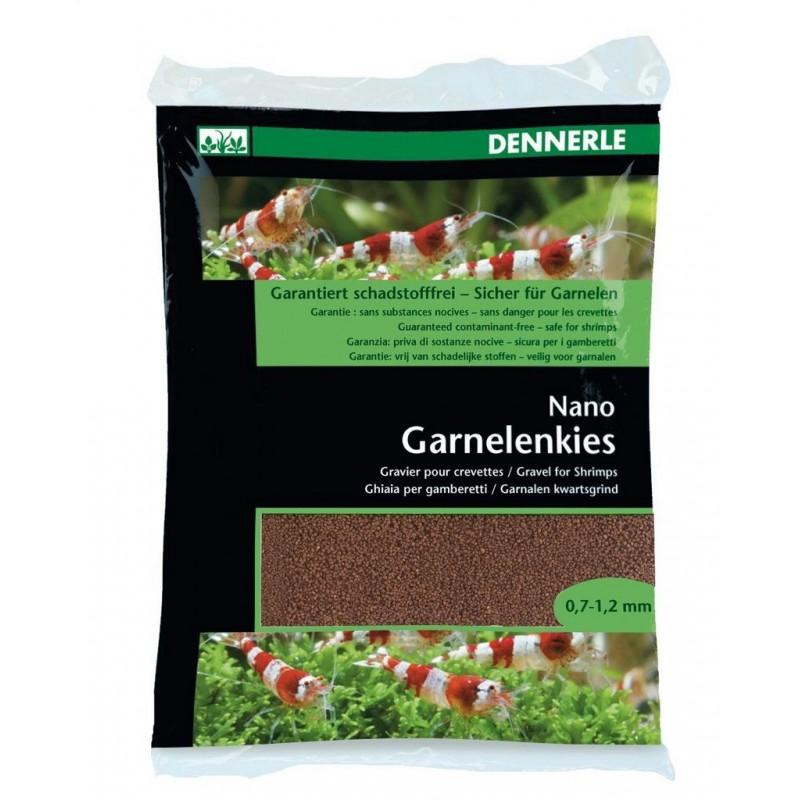 Dennerle 5914 Nano Garnelemkies Borneo Braun Ghiaia per gamberetti d'acquario 2 kg Granulometria 07 - 1,2mm