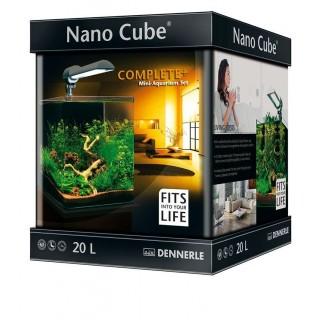 Dennerle 5938 Nano Cube Complete Plus da 20 l 25x25x30h cm Mini acquari con vetro panoramico