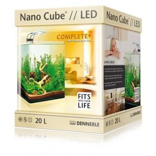 Dennerle 6021 Nano Cube Complete Plus LED da 20 l 25x25x30h cm acquario completo