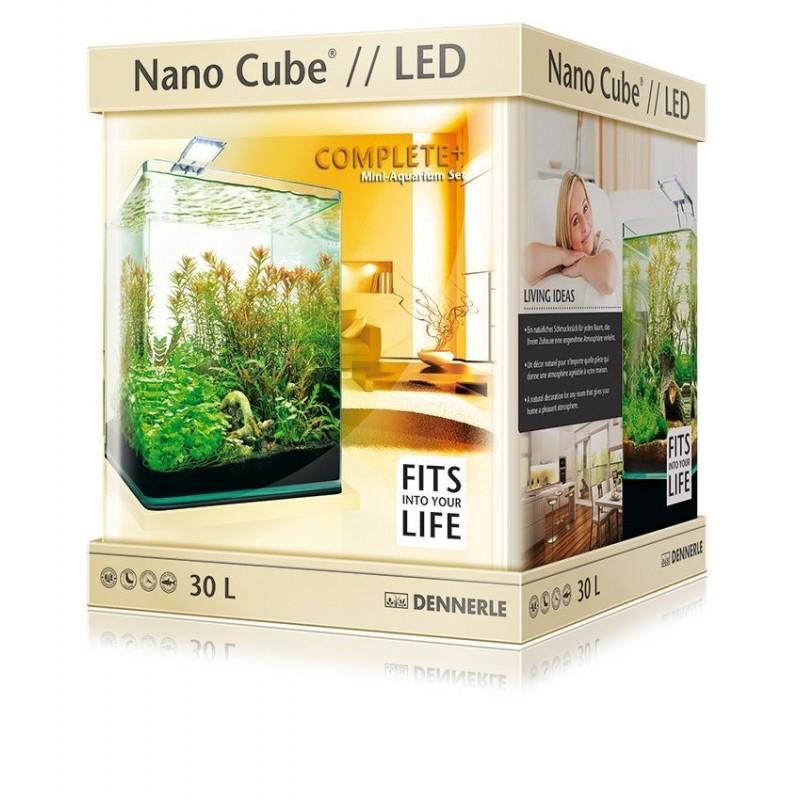 Dennerle 6022 Nano Cube Complete Plus LED da 30 l 30x30x35h cm acquario completo