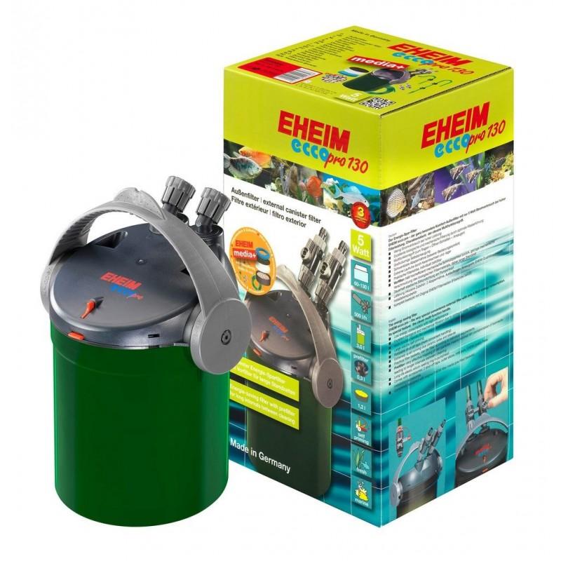 Eheim Filtro Esterno EccoPro 130 Modello 2032 500L/H 5W Completo di Materiali Filtranti per Acquari Fino a 130 Litri