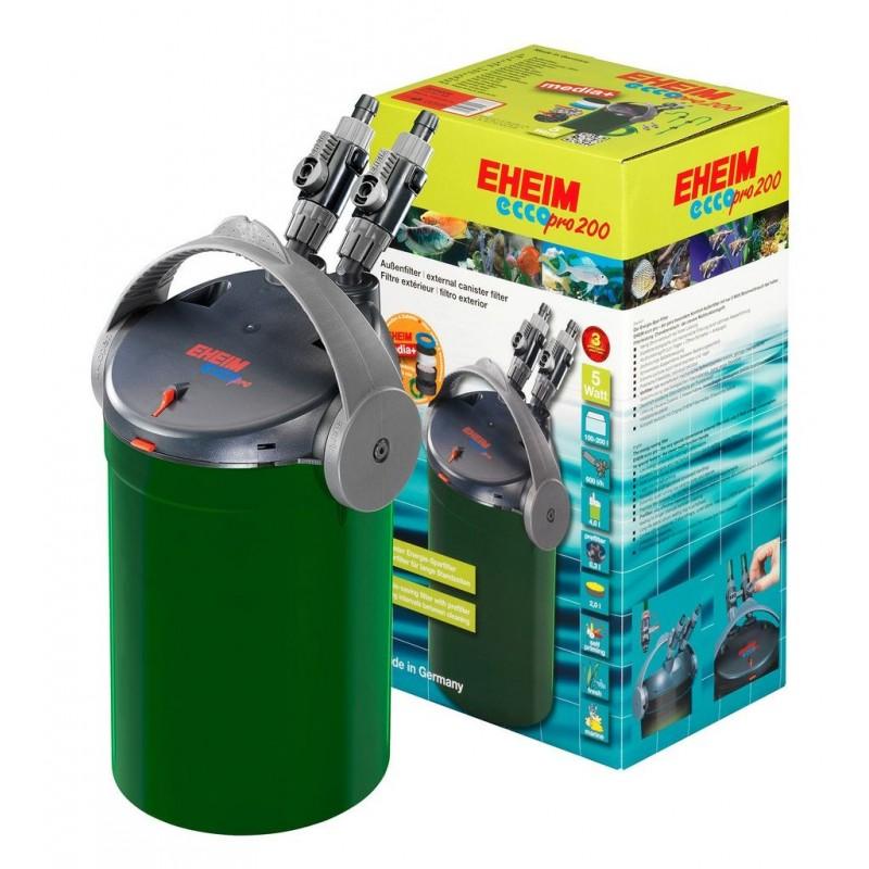 Eheim Filtro Esterno EccoPro 200 Modello 2034 600L/H 5W completo di materiali filtranti per Acquari Fino a 200 Litri