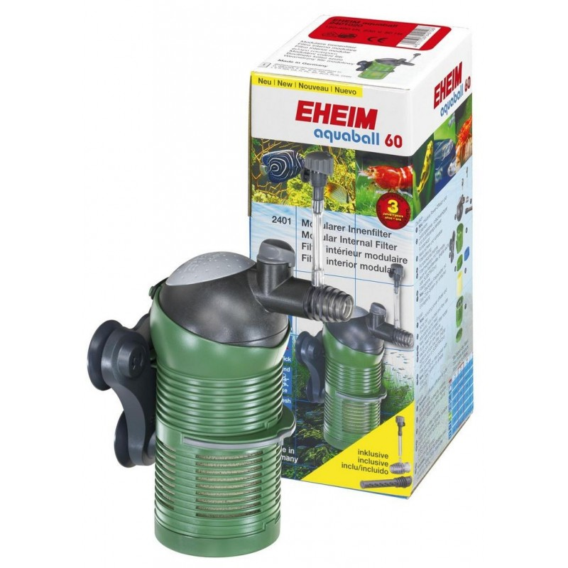 Eheim Aquaball 60 Filtro Interno Modulare Completo di Pompa Regolabile, Sistema Venturi e Spray Bar per acquario