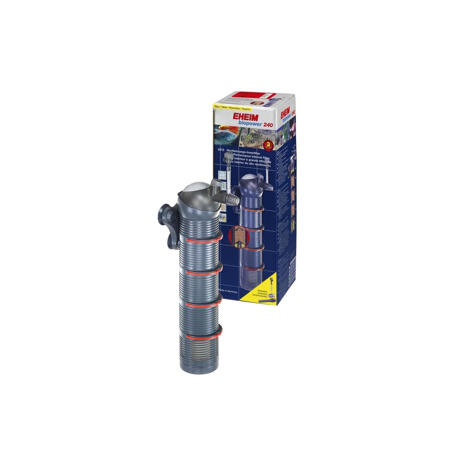 Eheim Biopower 240 Filtro Interno Modulare Completo di Pompa Regolabile, Sistema Venturi Spray Bar e Materiale Filtrante Substra