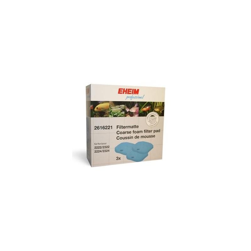 EHEIM Ricambio Spugne Blue Professionel 2 2222/2224 3 Pezzi per Confezione