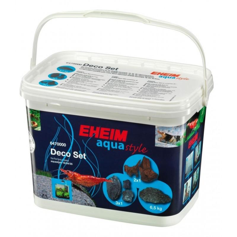 EHEIM AquaStyle Deco Set - Kit Completo di Ghiaia Legni e Rocce per Nano Acquari