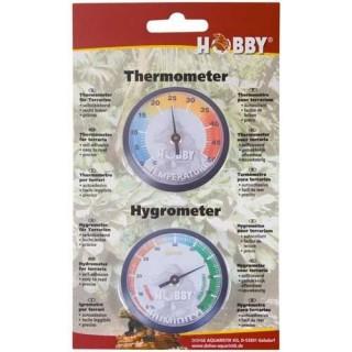 Hobby Igrometro analogico e Termometro analogico per misurare umidità e temperatura nei terrari dei rettili
