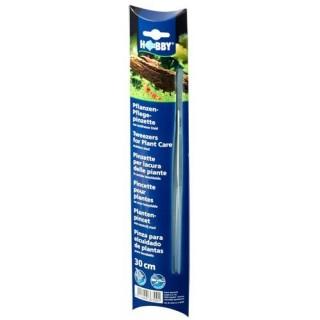 Hobby Pinzette dritte 30 cm per piante d'acquario o mangime per rettili