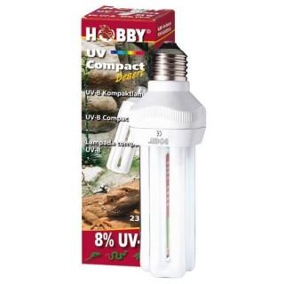 Hobby UV Compact Desert UV-B 8% 23 W lampada luce per rettili per la sintesi della vitamina D3