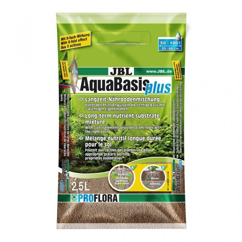 JBL Aquabasis Plus 2,5L Miscela nutriente a lungo termine del substrato 3kg Acquari max 50-100lt