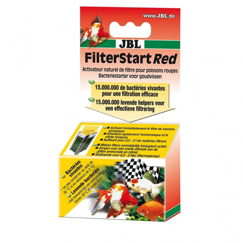 JBL FilterStart Red 10 ml Attivatore batterico per acquari di pesci rossi