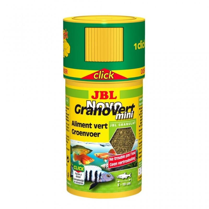 JBL Novo Granovert Mini Clik 100 ml mini granuli verdi per pesci erbivori