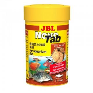 JBL Novo Tab 100 ml 160 Pastiglie mangime in pastiglie per pesci da fondo d'acquario