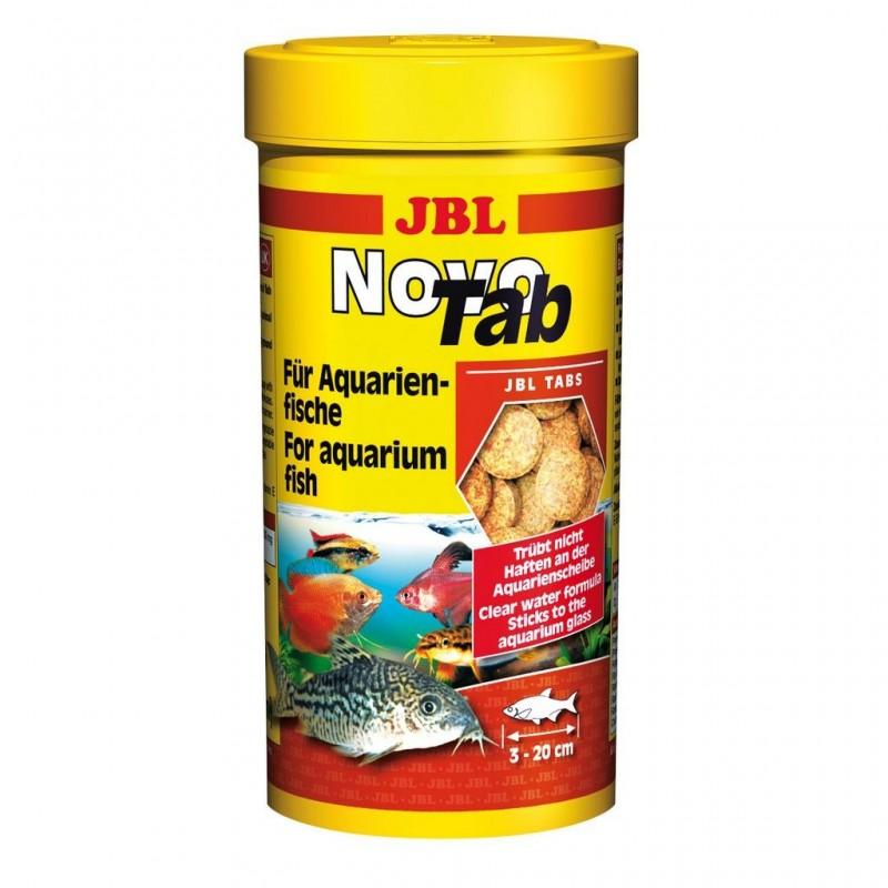 JBL Novo Tab 250 ml 400 Pastiglie mangime in pastiglie per pesci da fondo d'acquario