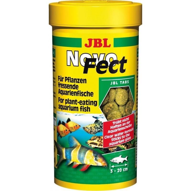 JBL Novo Fect 1000 ml Mangime in tabs per pesci erbivori con fibre vegetali essenziali