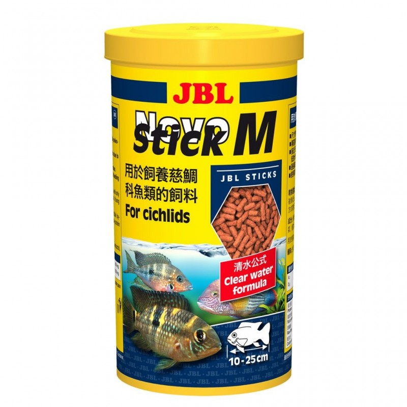 JBL Novo Stick M 1 lt Mangime in bastoncini per ciclidi pesci d'acquario