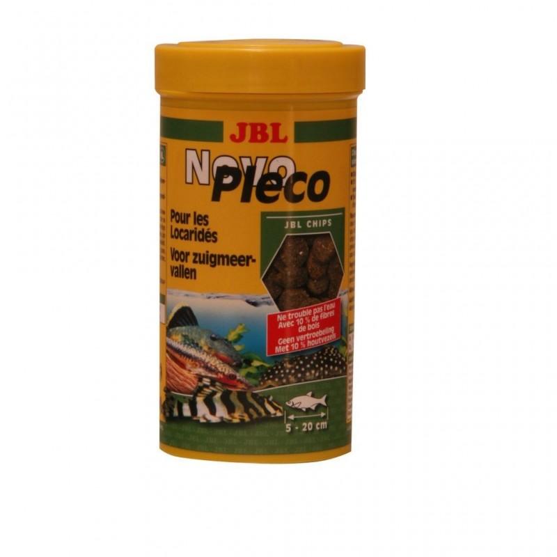JBL Novo Pleco Chips 250 ml mangime in chips per pesci da fondo d'acquario