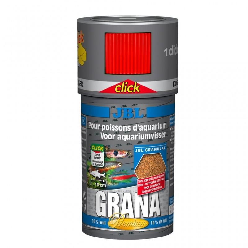 JBL Grana CLICK 100 ml Mangime granulato Premium per pesci piccoli d'acquario
