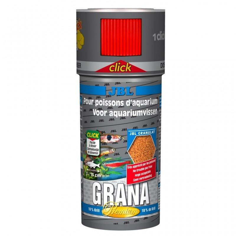 JBL Grana CLICK 250 ml Mangime granulato Premium per pesci piccoli d'acquario