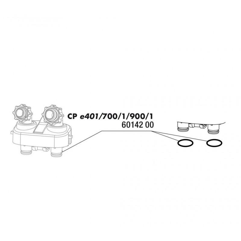 JBL CristalProfi e4/7/900/1 guarnizione blocco raccordo tubi fless. 2 pezzi