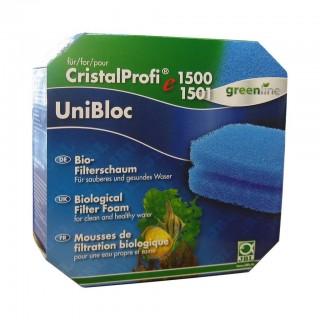 JBL CristalProfi UniBloc e1500/1 Ricambio Set Spugne per Filtro Esterno Serie E1500 2 Spugne da 20 ppi