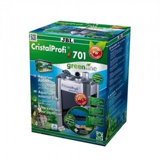 JBL Filtro Esterno Cristal Profi E701 Green Line Completo di Materiali Filtranti per Acquari Fino a 200 Litri Pompa 700 L/H