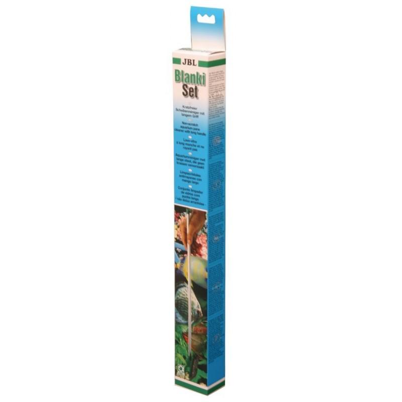 JBL Blanki Set Dispositivo per la pulizia dei vetri d'acquario non abrasivo con manico
