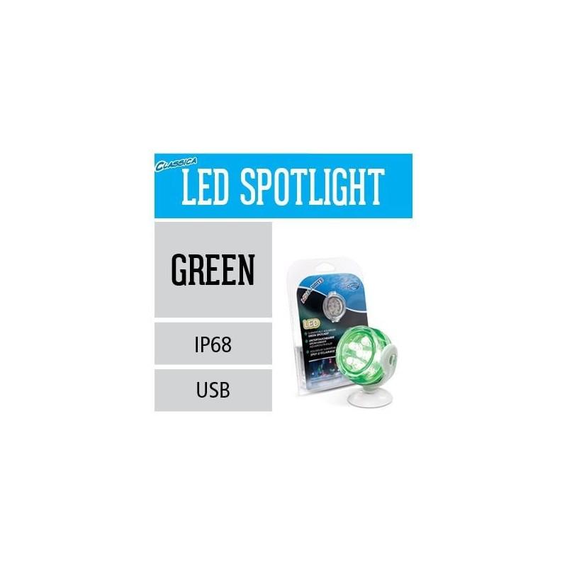 Arcadia Faretto a LED sommerso IP68 Aqua-Brite verde luce per acquario - CLG6