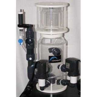 LGMAquari LGs2000 Schiumatoio interno/esterno con sistema venturi, girante a spazzola per acquari fino a 2200 litri
