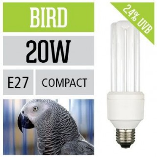 Arcadia Lampada Bird Lamp PL 20W UVB E27 luce per uccelli simula effetto del sole - FBC20X