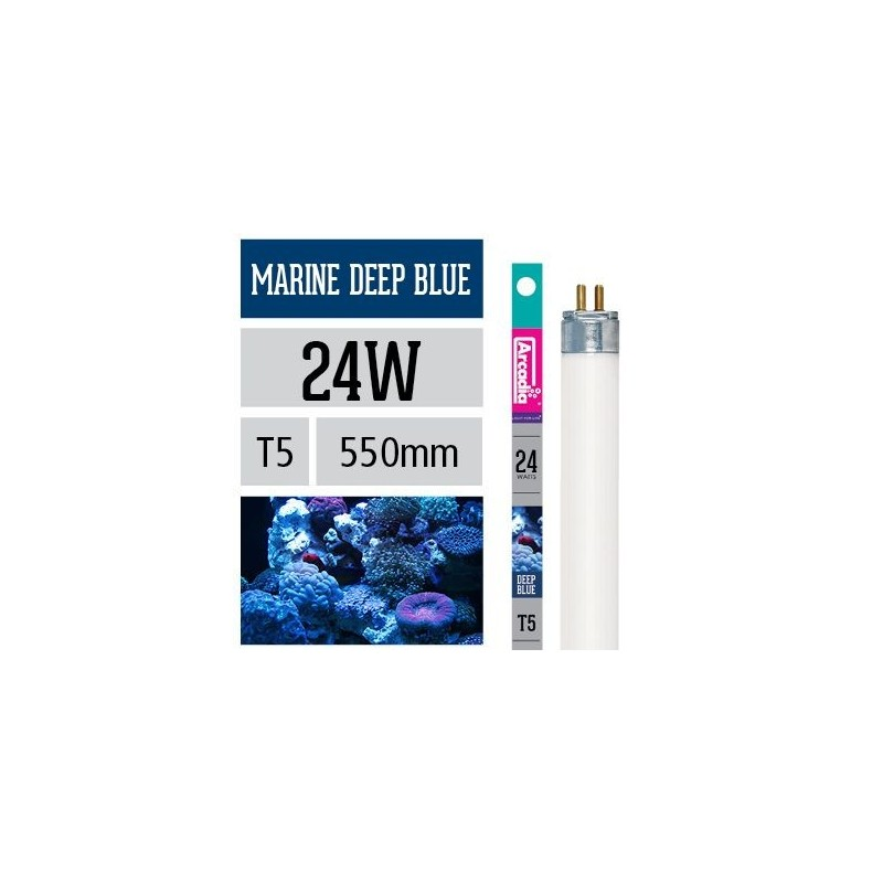 Arcadia Neon Marine Deep Blue T5 24W 550mm luce per acquario marino esalta i coralli - FMDB24T5
