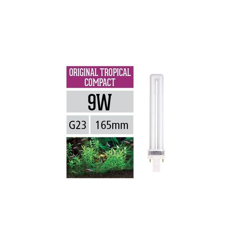Arcadia Lampada Original Tropical Compact PL 9W G23 luce ottimale per la fotosintesi delle piante in acquario - FOC09