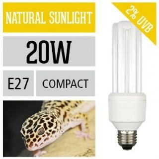 Arcadia Lampada Reptile Sunlight PL 20W UVB E27 luce per serpenti pitoni boa e rettili - FSUC20X