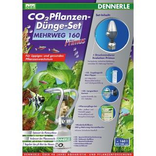 Dennerle 3074 Impianto CO2 Primus 160 con Bombola Ricaricabile da 500gr per Acquari fino a 160 Litri
