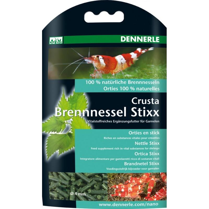 Dennerle 5866 Crusta Brennessel Stixx Integratore Alimentare Specifico per Invertebrati in Bastoncini con Ortica