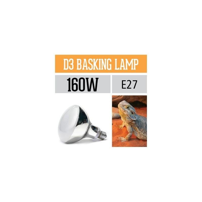 Arcadia Lampada Reptile D3 UV Basking 160W luce a mercurio riscaldante per rettili e terrari - SMA160E27