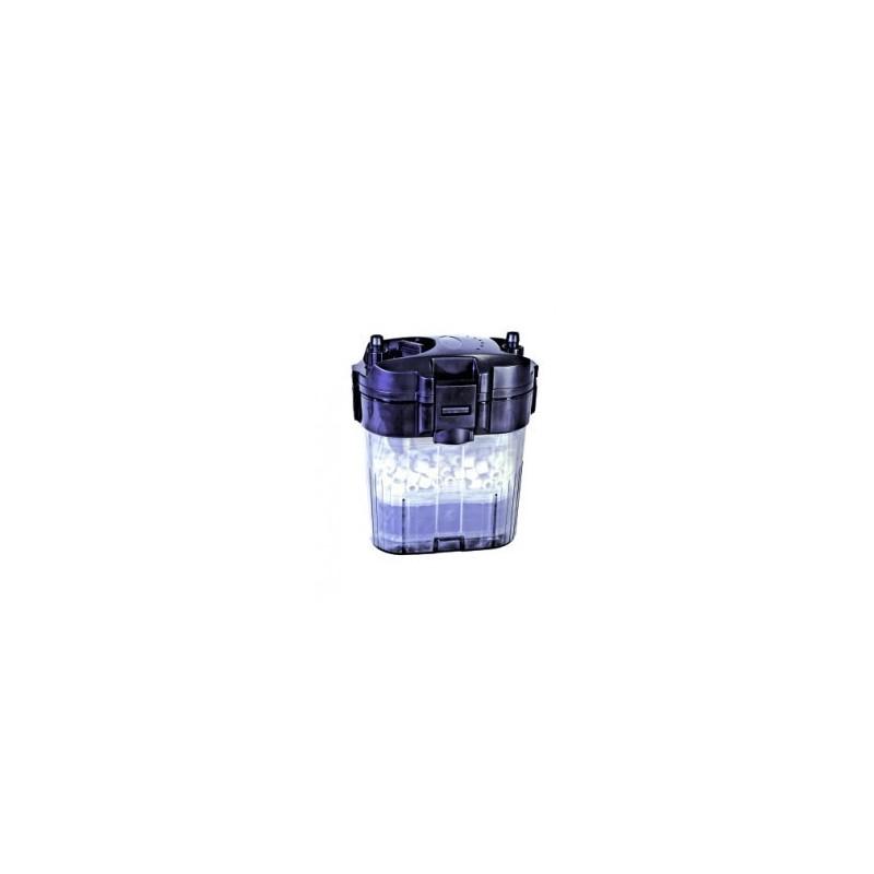Blau Aquaristic Filtro esterno MINI EF 360 per acquario dolce e marino fino a 100 litri con materiale filtrante incluso