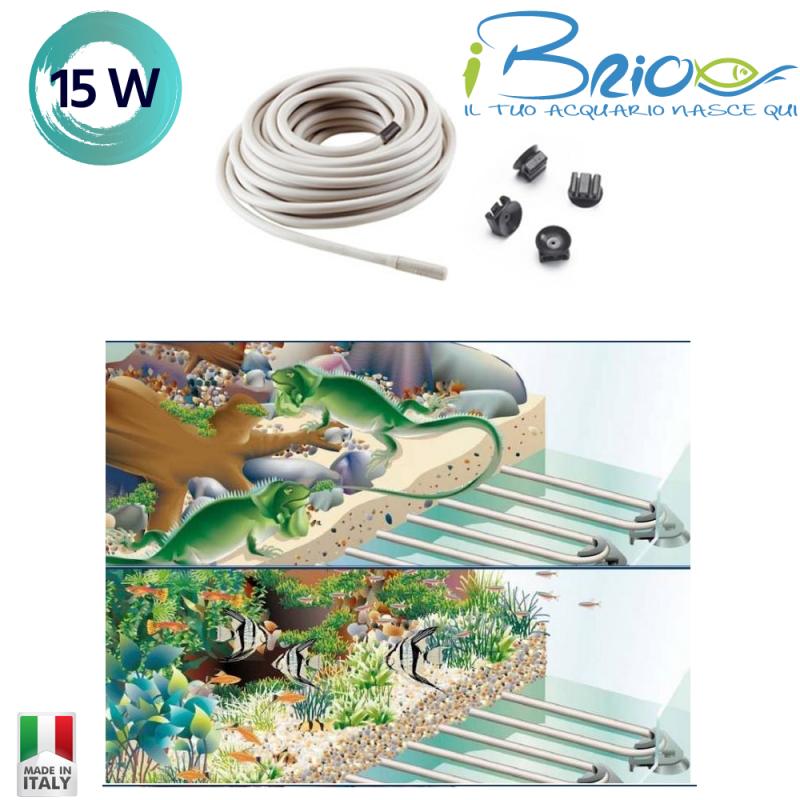 Eden Serie 415 Cavetto Riscaldante 15W doppio silicone per acquari rettili e terrari