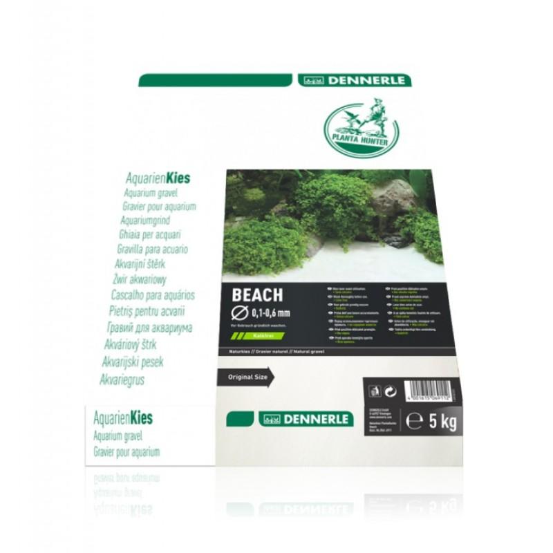 Dennerle 6911 Plantahunter Beach Ghiaia naturale 0,1-0,6mm 5Kg fondo per acquario