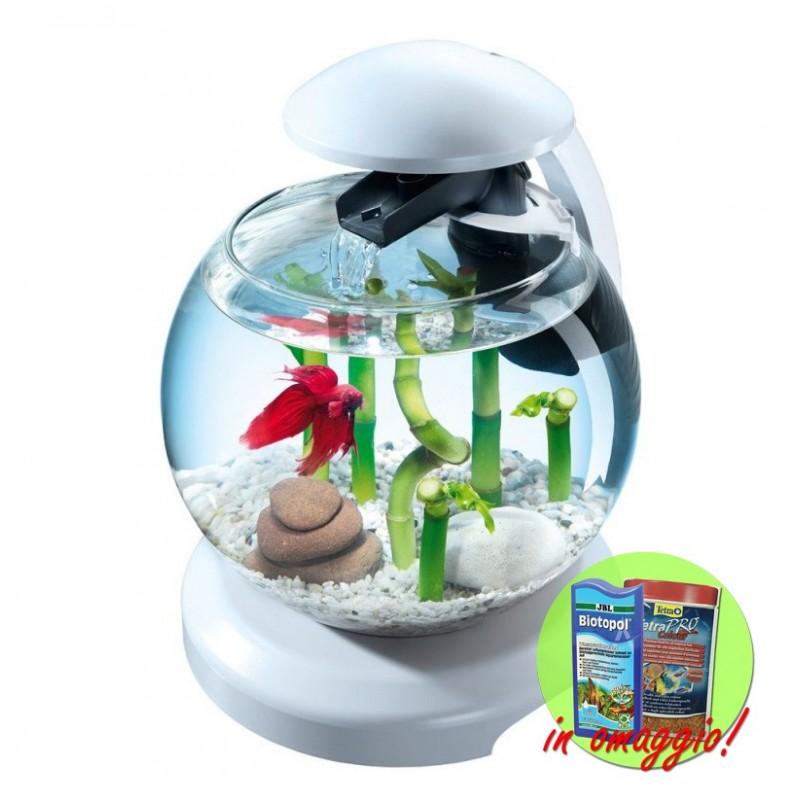 Tetra Cascade Globe acquario Boccia di vetro con filtro e luce a led vari colori