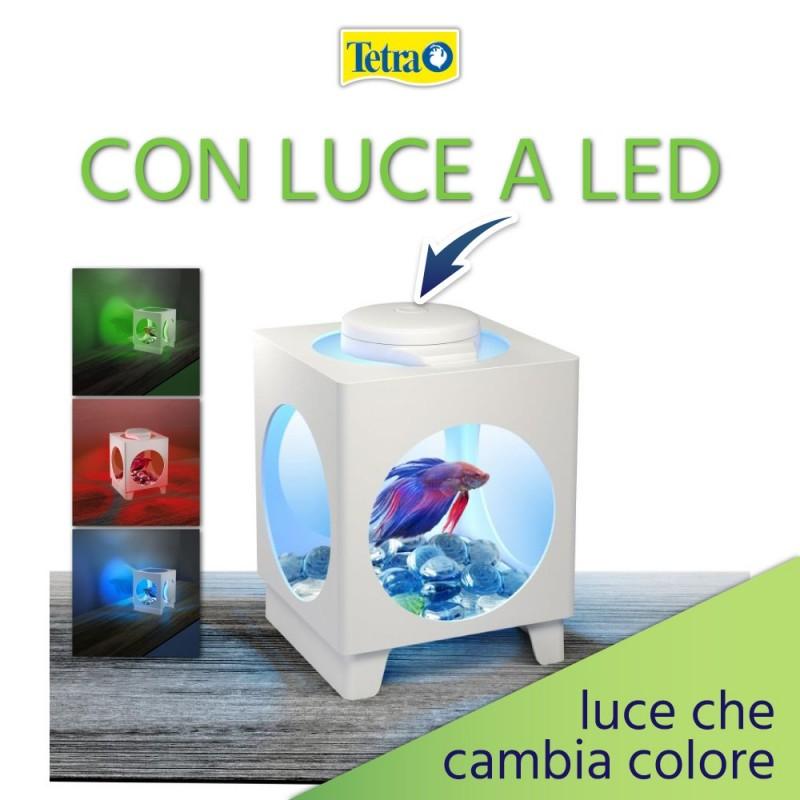 Tetra Betta Projector acquario Boccia con luce a led in vari colori