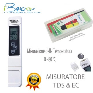Misuratore Digitale di TDS & EC con misurazione della della temperatura 0-80 °C1