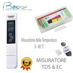 Misuratore Digitale di TDS & EC con misurazione della della temperatura 0-80 °C